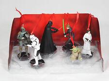 Disney Star Wars 6pc Ornaments Figure Set Darth Vader Boba Fett Luke Yoda Leia