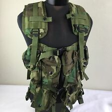 US Army Military Tactical Load Bearing Vest Camouflage Pockets Pouches Adjustabl