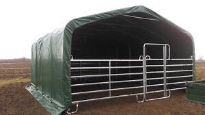 Weidezelt mit Panel Weideunterstand -ersatz Zelt 6x6m x 3,6mH Grün 750g ANGEBOT