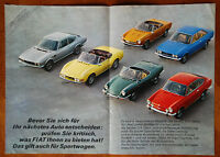 Fiat range (inc. Dino) brochure Prospekt, 1970 (German text)