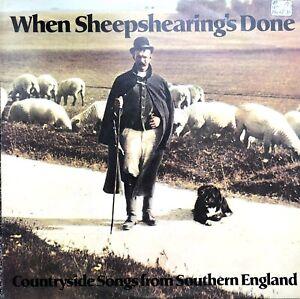 WHEN SHEEPSHEARING'S DONE 1975 TOPIC LP VINYL RECORD FREDA PALMER BOB BLAKE