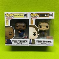 Funko Pop! The Office Stanley GameStop & Kevin Malone BoxLunch Exclusive