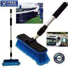 Car Wash Brush Telescoping Handle Vehicle Cleaning Tool RV Boat & Truck Washing