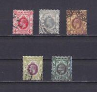 HONG KONG 1912, Sc# 111-119, CV $30, part set, Wmk 3, 'George V', Used