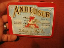 Anheuser-Busch Playing Cards 1991 In A Metal Hinged Tin