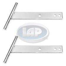 "x2 VW BUG BEETLE CHROME ""T"" BARS PAIR CAL LOOK LONG (FRONT/REAR) 1949-1967"