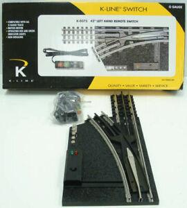 "K-Line K0375 O Gauge 42"" Left Hand Remote Control Switch Turnout LN/Box"