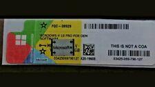 LICENZA WINDOWS 10 PRO PROFESSIONAL 32 / 64 BIT STICKER ADESIVO COA 10 PRO DVD