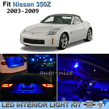 For 2003-2009 Nissan 350Z Brilliant Blue LED Interior Lights Kit 7 Pieces