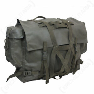 Original Swiss Army Mountain Rucksack - Bag Military Surplus Vintage Olive Green