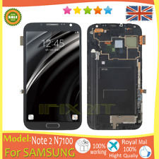 For Samsung Galaxy Note 2 N7100 Screen LCD Display Touch Digitizer Frame Grey