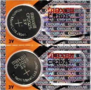 2x CR2025 Battery Lithium 3V DL2025 BR2025 Button Coin Cell Batteries Maxell