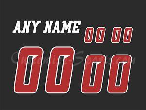 Ottawa Redblacks Football Number kit for 2015-2018 Black Jersey
