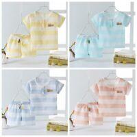 Toddler Kids Baby Boy Girl Summer Outfits Clothes T-shirt + Short Pants 2PCS set