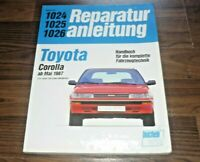 TOYOTA Corolla E90 1987-1992 Motor Getriebe Fahrwerk Elektrik WERKSTATT HANDBUCH