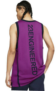Nike Jordan 23 Engineered  Men's Vivid Purple/Obsidian Jersey Large AT9781-551