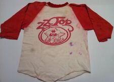 ZZ TOP Texas Tour 1975 Vintage Concert Tour T-Shirt 3/4 Sleeve