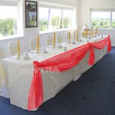 Table Swags Sheer Organza Fabric DIY Wedding Party Bow Decorations WF