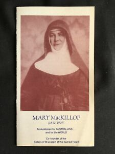 Vintage Collectable Holy Prayer Card/Pamphlet - Mary MacKillop