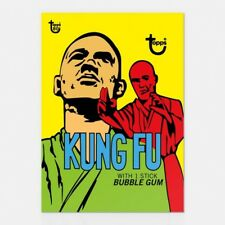 KUNG FU 1973 TOPPS 80TH ANNIVERSARY WRAPPER ART CARD #22 #Topps #KungFu #TV #Art