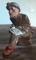 Army WWII WWI Manoil toy soldiers Writing Letter BROKEN cigar missing