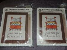 Lot of 2 NMI CROSS STITCH KITS YOU'VE MADE YOUR BED NOW LIE IN IT 5 X 7 #1859