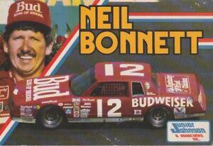 1985 Neil Bonnett Budweiser Chevy Monte Carlo NASCAR NWCS Hero Card Postcard