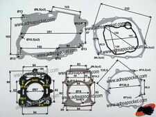 Pochette Joints Moteur Zongshen 250cc 167MM / SHINERAY 250STIXE