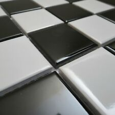Cameroon Black White Porcelain Mosaic Tile Sheets Bathroom Kitchen Wall
