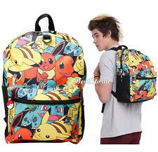 Pokemon GO Starters Characters Tossed Print Backpack School Book Bag Licensed