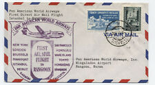 1952 Turkey to Burma Pan American first flight cover [y3022]