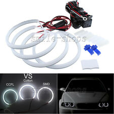 4pcs White Cotton LED SMD Angel Eye Halo Ring Bulb Light For BMW E46 E39 E38 E36