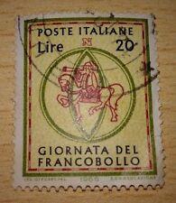 POSTE ITALIANE GIORNATA DEL FRANCOBOLLO 1965 LIRE 20 VIAGGIATO