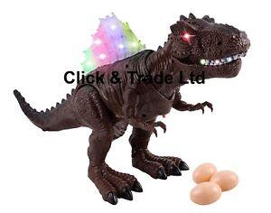 "Toy Dinosaur Spinosaurus Egg Laying Battery Walking Dinosaur 11"" Tall Toy Figure"