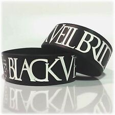"""Black Veil Brides Wristbands 1"""" Wide BVB UK Stock Silicone Fast"""