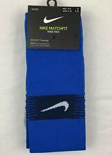 Nike Matchfit Knee High Soccer Sock Men's MEDIUM 6-8 Blue SX6836
