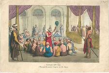1858 BRAMANI CANTANO IMPRESE DEL DIO RAMA litografia ब्राह्मण Brahmin Hinduism