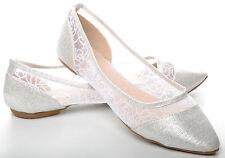 Mocassini e ballerine da donna casual ballerine in argento