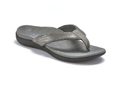 Scholl Orthaheel Orthotic Sonoma II Supportive Thong Pewter - All Women Sizes