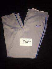 Euc Nike Performance Apparel Baseball Pants Gray/Blue Strip Mens Medium