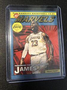 2020-21 Donruss Basketball LeBron James NET MARVELS PRESS PROOF GOLD Lakers