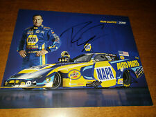NHRA FUNNYCAR RON CAPPS 2019 AUTOGRAPHED 8X10 HANDOUT PHOTO CARD