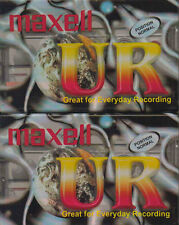 2 X Maxell Ur90 Audio Tape 90min Blank Media Cassette Tapes