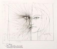La Belle et la Bete gravure originale de Pierre Yves TREMOIS Signé dédicacé