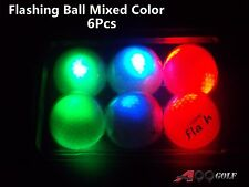 6 pcs Twilight Light-up Flashing Golf Ball Mixed Color - PLAY NIGHT GOLF!