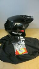 Hebo Zone 5 Black MONO With Visor Trials Helmet Trail Greenlane Extra Large