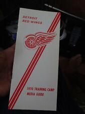 Vintage 1970 Detroit Red Wings Training Camp Guide Gordie Howe Frank Mahovlich!!
