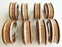 Napkin Rings Set of 8 Porcelain/Ceramic Brown Farmhouse Cottage