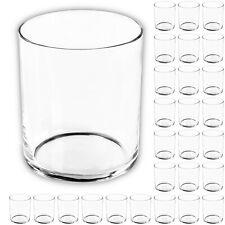 28 Stück Zylinderglas Glaszylinder Set Zylinder Vase Deko Glas Gläser