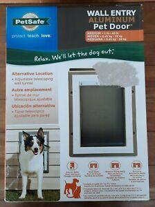 NEW PetSafe Wall Entry Pet Door Telescoping Tunnel Aluminum Medium See Details